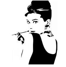 Art Vinyl Audrey Hepburn Wall Sticker Home Decor Words Wall Letters decals