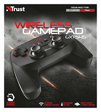 TRUST GXT545 WIRELESS 13 BUTTON 2 JOYSTICK D-PAD RECHARGEABLE GAMEPAD FOR PC PS3