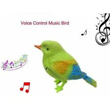 New listing Funny Sound Voice Control Activate Chirping Singing Bird Kids Child Toy Fun Gift