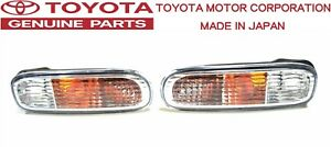 TOYOTA GENUINE OEM 96-02 JZA80 SUPRA MK4 Front Turn Signal Lamp Light Set