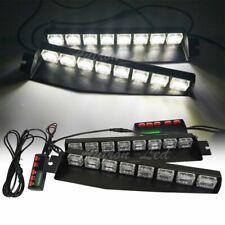 """48W 34"""" Inch LED White Emergency Warning Strobe Dash Visor Deck Split Light Bar"""