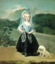 Oil painting francisco de goya - Maria Teresa de Borbon y Vallabriga lady dog
