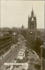 St. Nicholas Street.  Newcastle upon Tyne. Vintage Cars Trams posted 1929 RH832