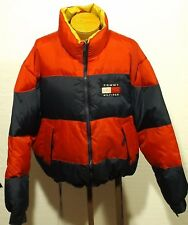 vintage men's TOMMY HILFIGER jacket parka COLORBLOCK Spellout size XL
