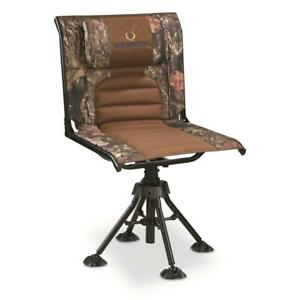 Swivel Camo Hunting Blind Chair Comfort Foldable Seat 360 Rotating Steel Frame