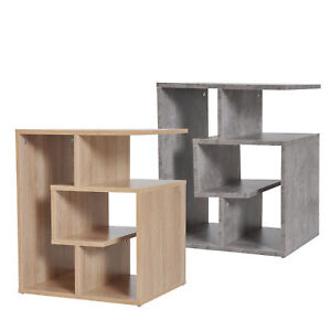 3-Tier Side End Table Open Shelves Storage Coffee Book Magazine Desk Living Room