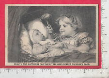 9008 Ridge's Food Blancmange trade card Woolrich Co, Palmer, MA toy baby rattle