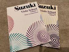 Suzuki Viola School Volume 7 Music Books: Viola and Piano Accompaniment.