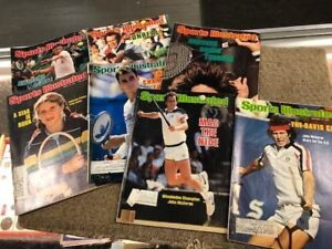 Tennis lot 7 Sports Illustrated Magazines 1976-84 Austin-Connors-McEnroe-Borg-