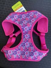 Top Paw Comfort Dog Harness Adjustable Pink W/ Flowers- M