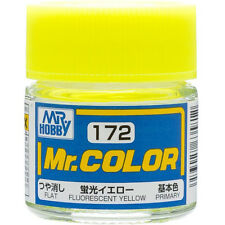 GSI CREOS GUNZE MR HOBBY Color C172 Fluorescent Yellow LACQUER PAINT 10ml MODEL