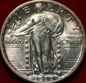 Uncirculated 1917 Type lI Philadelphia Mint Silver Standing Liberty Quarter