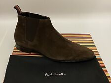 Paul Smith Marlowe Chelsea Boots In Brown Suede Size UK 8 / EU 42 RRP £240