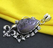 """Fantastic Look Natural Charoite 925 Silver Gemstone Jewelry Pendant Size 2"""""""