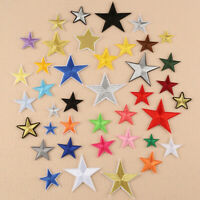 10pcs Star Patch Iron On Sew On Embroidered DIY Clothes Applique Decor Sewing