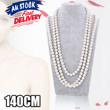1920's 30's 40's 140cm Flapper Party Costume Gangster Long Bead Pearl Necklace