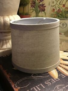 """Small Round Drum Shade-Linen Look-4.5""""H-Clip On-FREE SHIPPING! LOOK!"""
