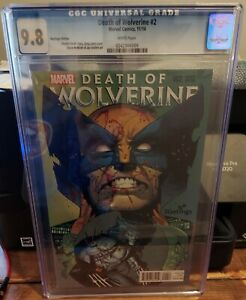 DEATH OF WOLVERINE #2 CGC 9.8 HASTING EDITION.