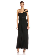 $338 BCBG MaxAzria Jamille Black 1 Shoulder Sweetheart Gown Dress 4 XS S Small