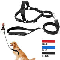 Set de correa y arnés para perros no-pull de nailon para los paseos Dog Harness