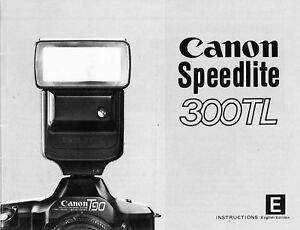 Flash Canon Speedlite 300TL Manuale Originale in Inglese
