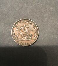 1852 BANK OF UPPER CANADA ONE HALF  PENNY TOKEN VERY NICE Coin