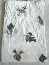 Pottery Barn Kids Batman Robin Twin Flat Sheet DC Comics Cotton Superhero