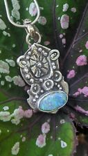 Australian Opal One-Off Sterling Silver Handmade Necklace .A2c