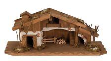 Krippe schönes Holzhaus 33cm x 13cm Weihnachten Haus Modellhaus