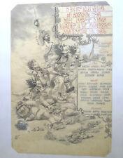 BERSAGLIERI BERSAGLIERE MILITARE DISEGNO QUADRO CADUTI AFRICA 1895 COLONIE 1902