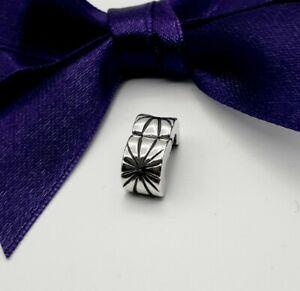 Genuine Pandora Silver Sunburst Lined Clip Charm - #790210 ..