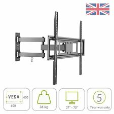 "Swivel Tilt Wall Mount Bracket 37 40 42 47 55 60 70"" TV LED 3D VESA 200-600 mm"