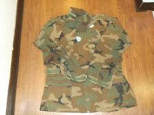 Military Nomex Woodland Camo Aircrew Jacket Shirt Medium Regular Free Shipping