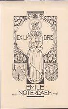 ex-libris Emile Noterdaem (bruges) cliché 1952