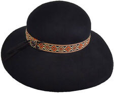 Hatch Party - Adjustable- 100% Wool Felt Crushable Floppy Hat - Black
