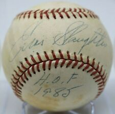Enos Slaughter Hand Signed Autographed Official Rawlings Baseball NO RESERVE