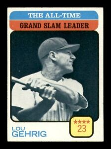1973 Topps Set Break # 472 Lou Gehrig Grand Slam Leader NM *OBGcards*