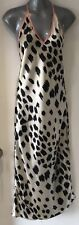 Victoria's Secret Ivory & Black Spotted Satin Full Length Nightgown Extra-Small