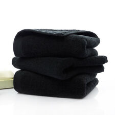 Newest Black Towels Solid Face Hotel Bathroom Beauty Parlor Home Washcloth Soft