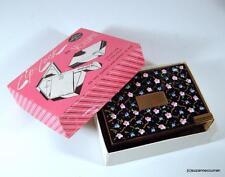 Vintage Volupte Compact & Lipstick LIP-LOCK w/ Enameled Flowers Unused in Box
