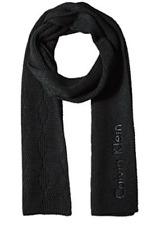 Calvin Klein Mens Chunky Wave Scarf Black One Size Hkc63608