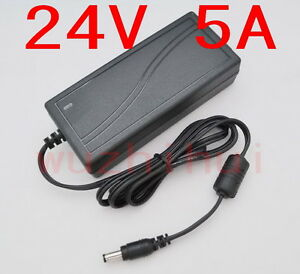 AC 100V-240V Converter Adapter DC 24V 5A 120W Power Supply Charger DC 5.5mm New