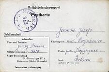 Camp Stalag IVA Hohnstein 1943 POW Prisoner of War Kriegsgefangenenpost (K15)