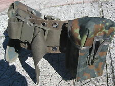 Army Surplus Web  Belt 106cm With P.38 Holster And Pouch