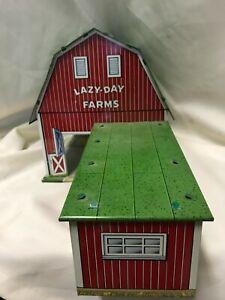Vintage Lazy Day Farms Metal Barn EUC