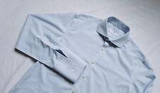 Charles Tyrwhitt Formal Dress Shirt Top Size 16 Large L /M Extra Slim Blue Green
