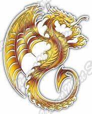 "Golden Dragon Chinese China Reptile Car Bumper Vinyl Sticker Decal 4""X5"""
