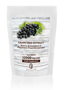 Grapeseed Extract 12000mg GSE x 90 Tablets Pills