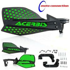 ACERBIS X-ULTIMATE BLACK / GREEN HANDGUARDS KAWASAKI KXF250 KXF450 KX125 KX250