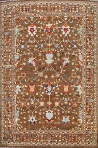 Floral Vegetable Dye Zeigler Oriental Area Rug Traditional Hand-knotted 9x12 ft
